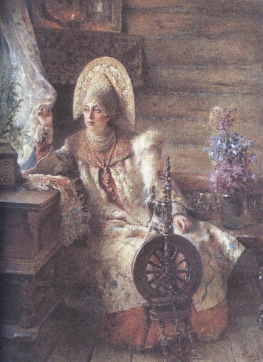 Константин Маковский. Боярышня у окна. 1897