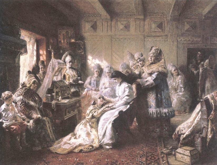 Константин Маковский. Под венец. 1884