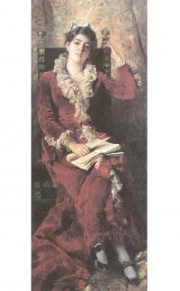 Константин Маковский. Портрет жены художника Юлии Павловны Маковской. 1881