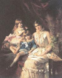 Константин Маковский. Семейный портрет. 1882