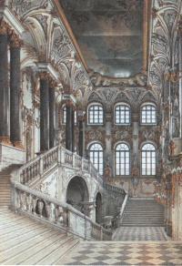 Константин Ухтомский. Парадная лестница Зимнего дворца. 1853