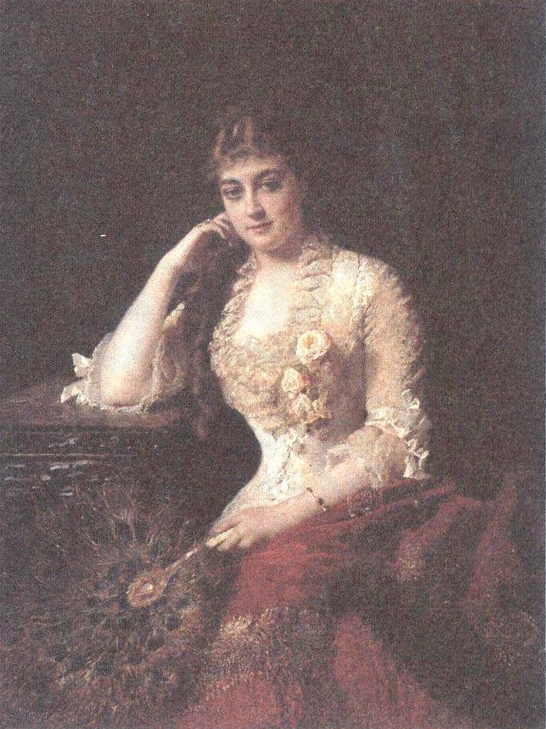 Констрантин Маковский. Портрет жены художника Ю.П.Маковской. Начало 1880-х