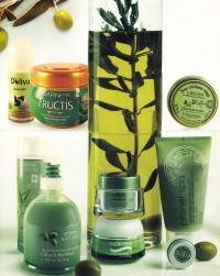 Косметические средства с оливой
