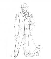 Типы кроя мужских костюмов
