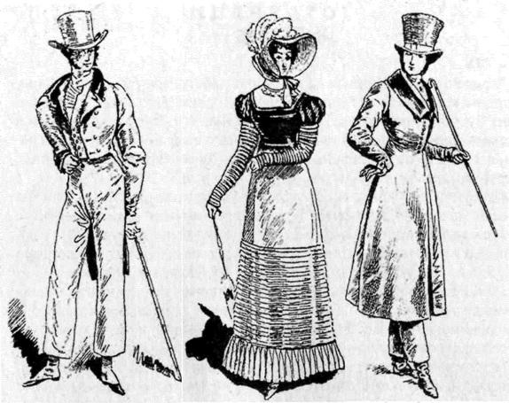 Костюмы и платья эпохи Реставрации