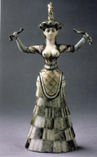 Крито-минойская богиня со змеями