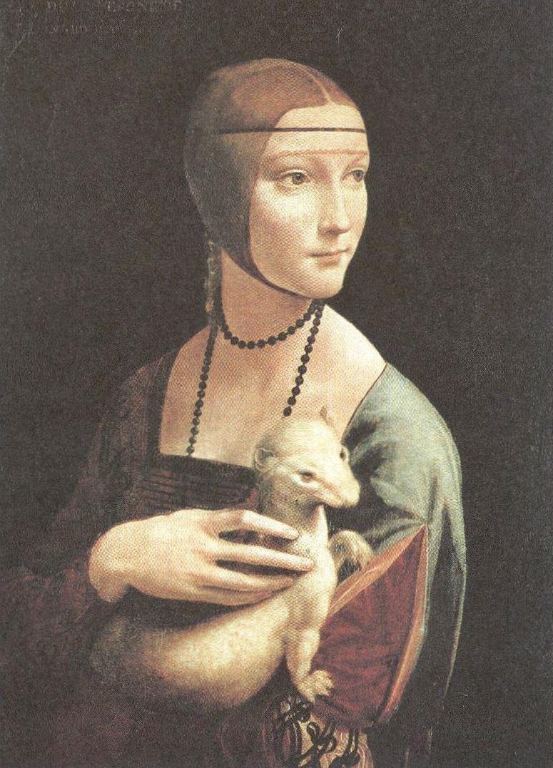 Леонардо да Винчи. Дама с горностаем. Около 1488-1490