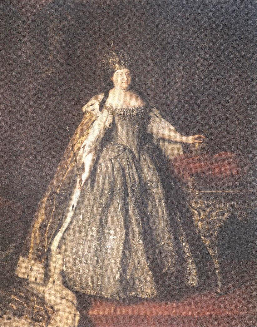 Луи Каравакк. Портрет императрицы Анны Иоанновны. 1730