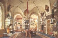Людвиг Премацци. Красная комната в Китайском дворце. 1871