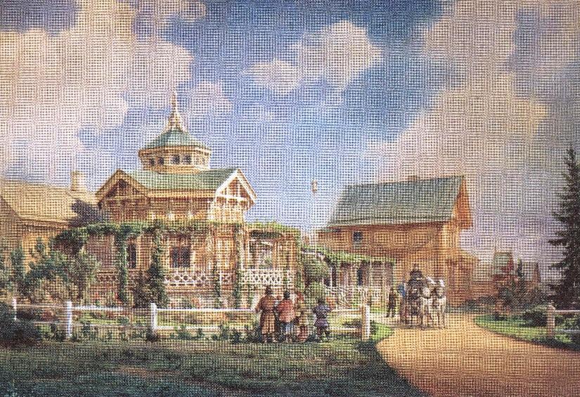 Людвиг Премацци. Усадьба. 1885
