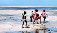 Местные дети на пляже
