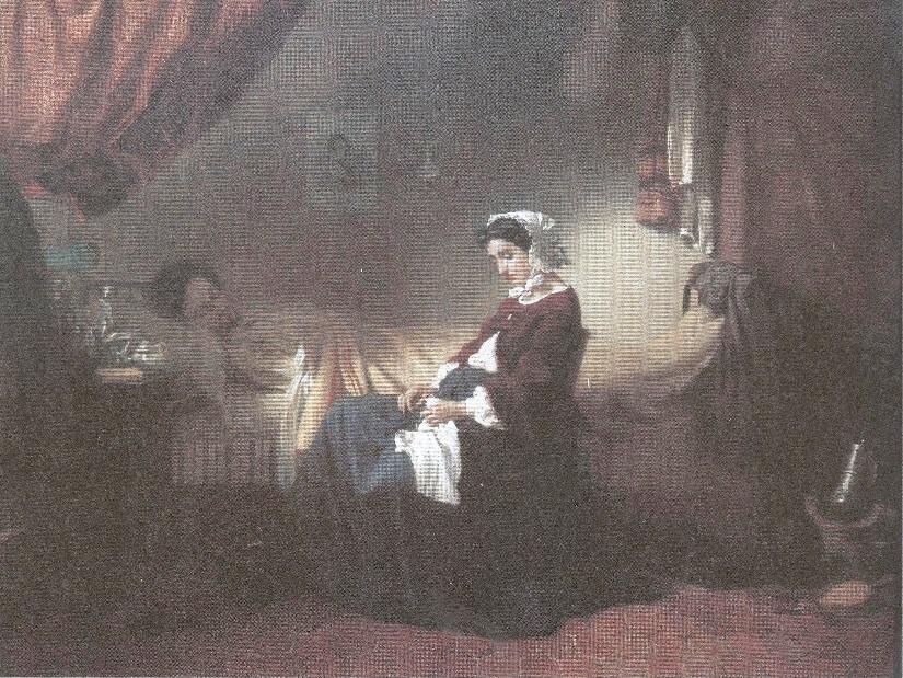 Михаил Клодт. Больной музыкант. 1859