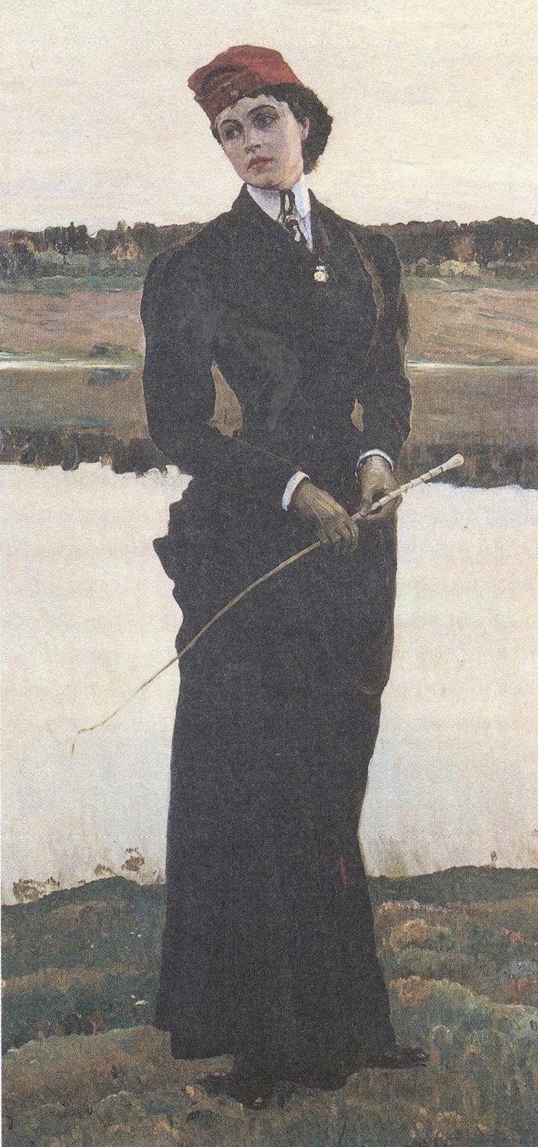Михаил Нестеров. Портрет дочери художника Ольги Михайловны Нестеровой. 1906