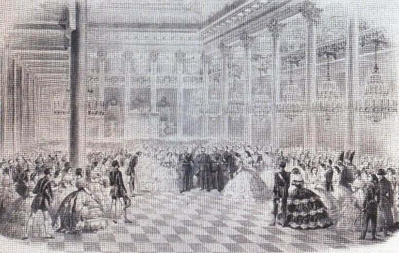 Михаил Зичи. Бал в зале благородного дворянского собрания. 1870-е
