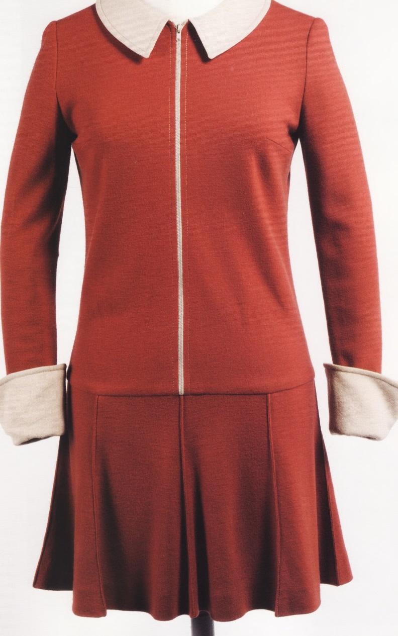 Мини-платье из шерстяного джерси (Мэри Куант, 1964г)