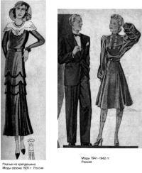 Мода 30-40-х годов XX века в России