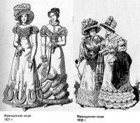 Мода Франции 20-30-х годов XIX века