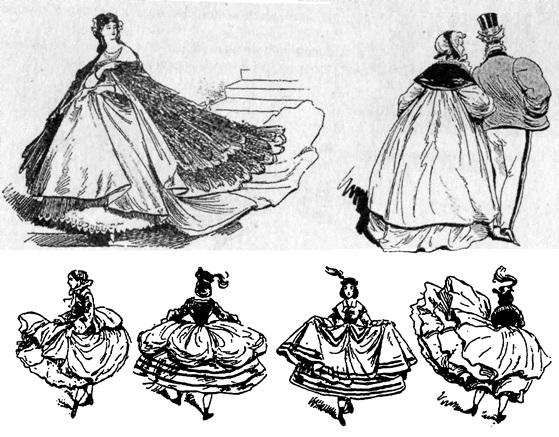 Мода Франции эпохи кринолина