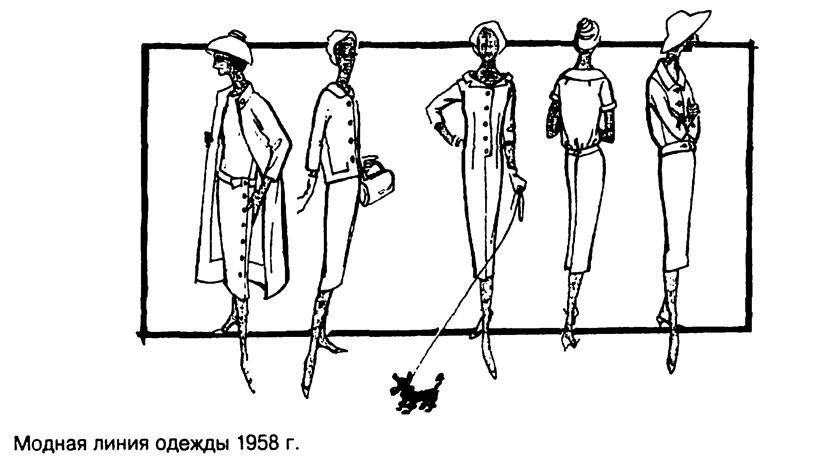 Модная одежда 1958 года