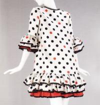Молодежное коктейльное платье в горошек (Ив Сен-Лоран, 1964)