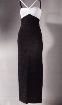 Монохромное вечернее платье (Эрве Леже, 1989)