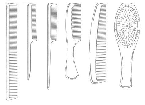 Набор расчёсок для стрижки