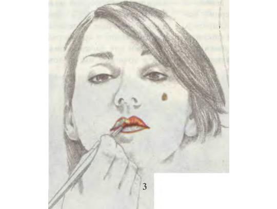 Начинайте красить губы от центра к углам
