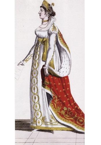 Наряд Жозефины в честь коронации Наполеона (1804г.)