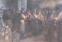 Николай Богданов-Бельский. Венчание. 1904-1905