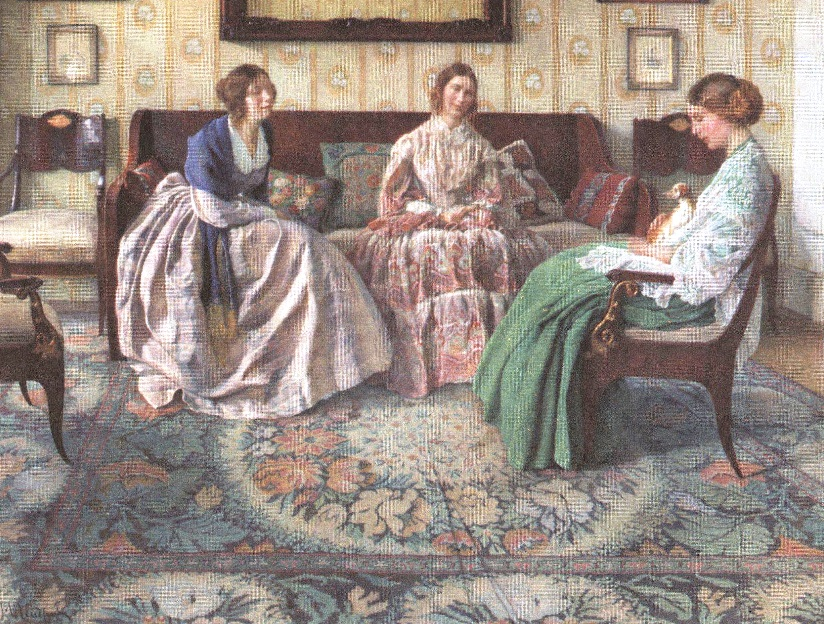 Николай Петров. Три дамы. 1916