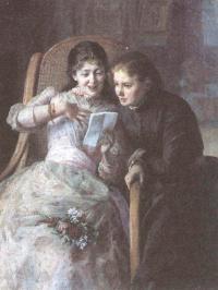 Николай Ярошенко. Девушки с письмом. 1892