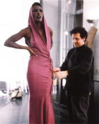 Облегающее платье с боковой шнуровкой (Аззедин Алайя, 1985)