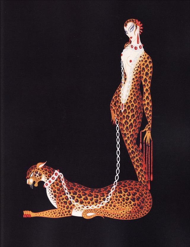 Образ женщины-хищницы авторства Романа Тыртова (Эрте)