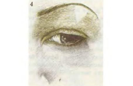Обведите внутренний угол глаза линией металлического цвета