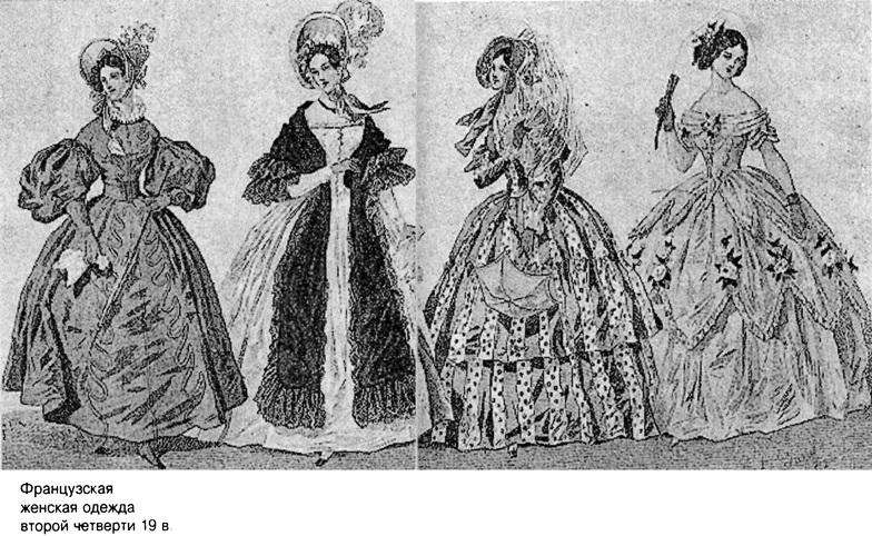 Одежда Франции XIX век