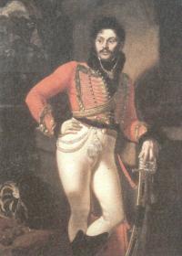 Орест Кипренский. Портрет лейб-гусарского полковника Евграфа Давыдовича. 1809
