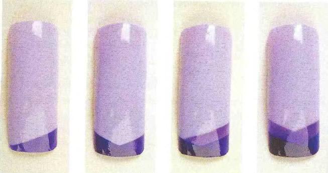 Оригинальный фиолетовый рисунок на сиреневой основе