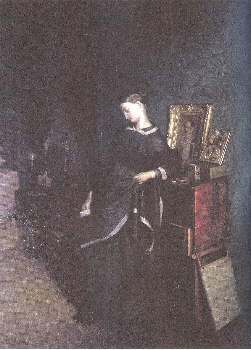 Павел Федотов. Вдовушка. 1850-1851