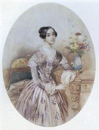 Пётр Соколов. Женский портрет. 1847