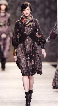 Платье Антонио Маррас для Kenzo (осень/зима 2009-2010)