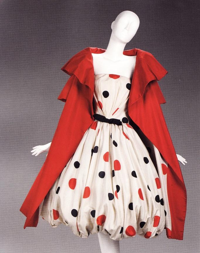 Платье-баллон в крупный горох (А. Скаази, 1961)