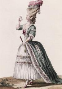 Платье из журнала Galerie des Modes et Costumes Francais (1778 г.)