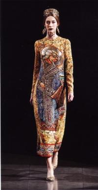 Платье от Дольче и Габбана, коллекция осень-зима 2013-14