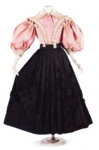 Платье по мотивам стиля бидермайер (модельер Мейнбохер)