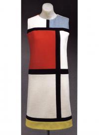 Платье с изображением «Мишени» Дж. Джонса (Ив Сен-Лоран, 1965)
