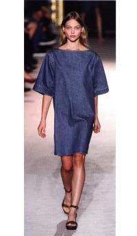 Мешковатые платья из денима в мире высокой моды