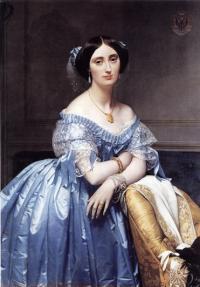 Портрет принцессы де Брольи кисти французского художника Энгра