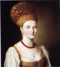 Портрете неизвестной в русском костюме (Аргунов, 1784)