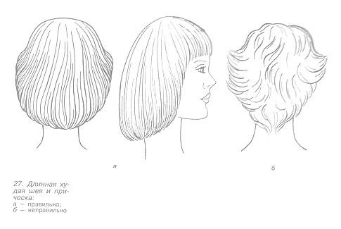 Причёска для женщин с худой шеей