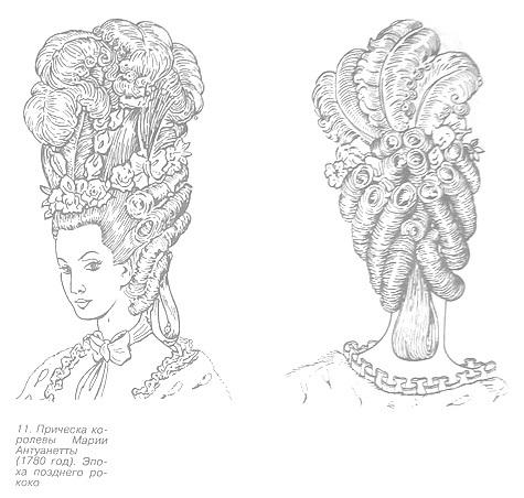 Причёска эпохи позднего рококо